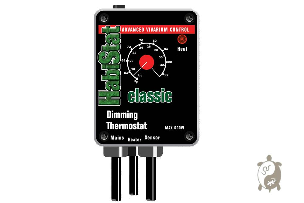 Habistat. Dimming. Thermostat Classic Noir